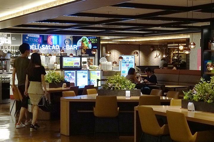 梅田站的購物中心「LUCUA」的美食廣場