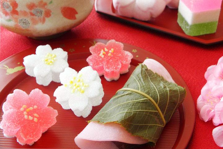 樱饼等春季和果子
