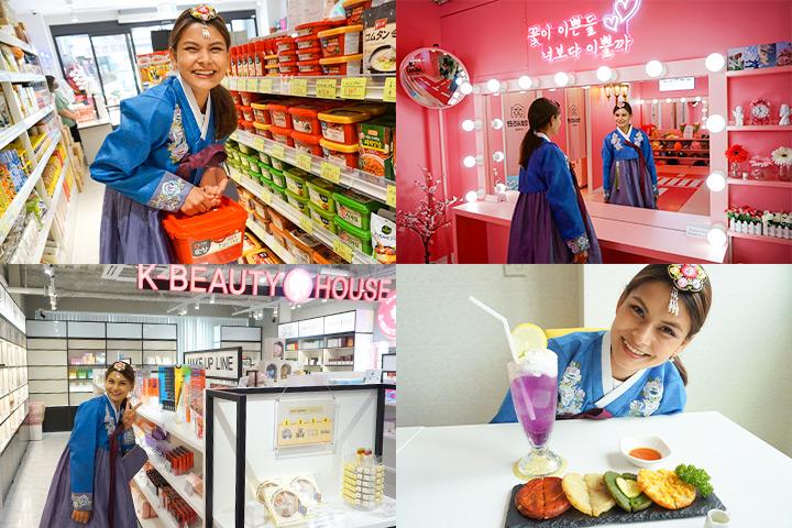 鶴橋の韓国ビルでスーパー、コスメ、プリクラ、カフェを楽しむ